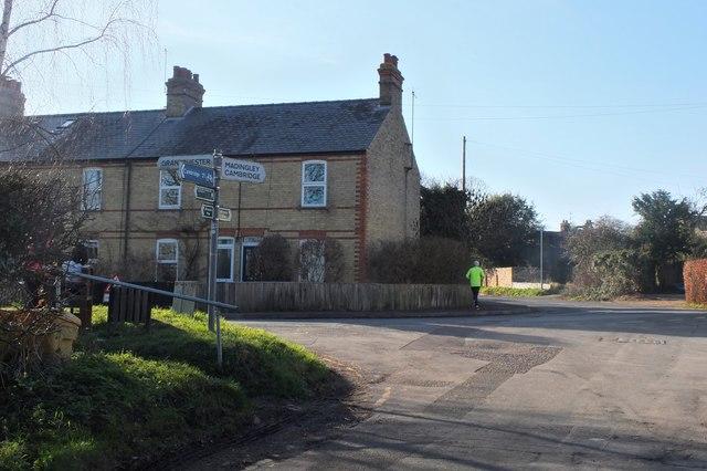 Road junction, Coton
