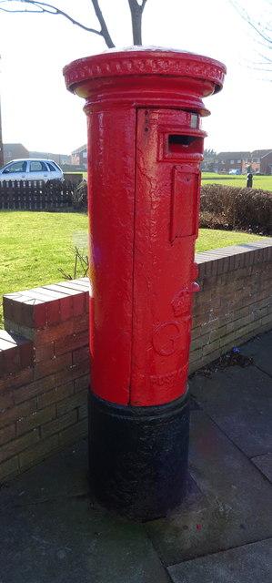 George V postbox on Eskdale Road, Dormanstown, Redcar