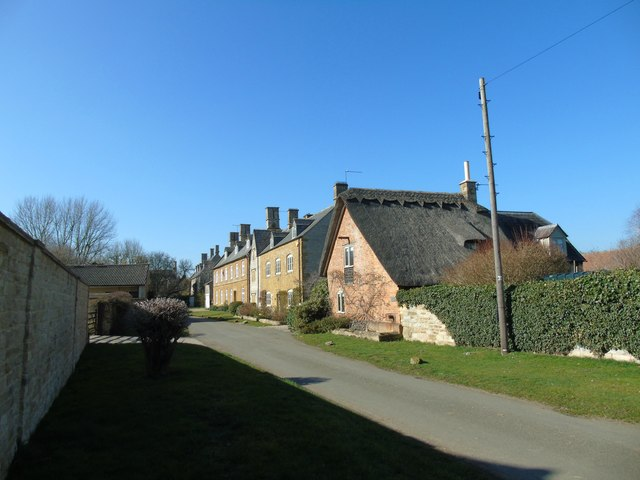 Attractive row of houses on the road to Blackwell