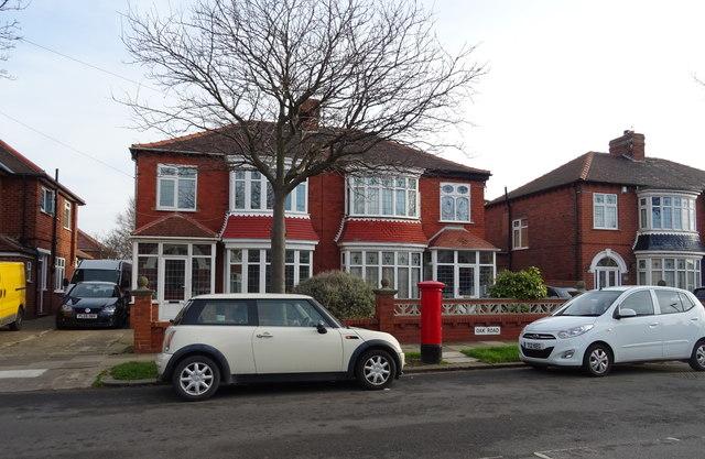 Houses on Oak Road, Redcar