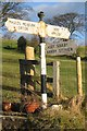 NY6615 : Old Direction Sign - Signpost by Milestone Society