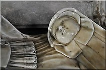TM3973 : Bramfield, St. Andrew's Church: Arthur and Elizabeth Coke memorial by Nicholas Stone 7 by Michael Garlick