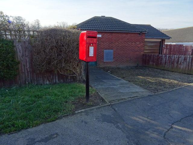 Elizabeth II postbox on Mapleton Crescent, Redcar