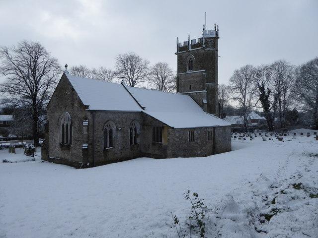 Martinstown Church - a winter view