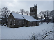SY6489 : Martinstown Church - a winter view by Maurice D Budden
