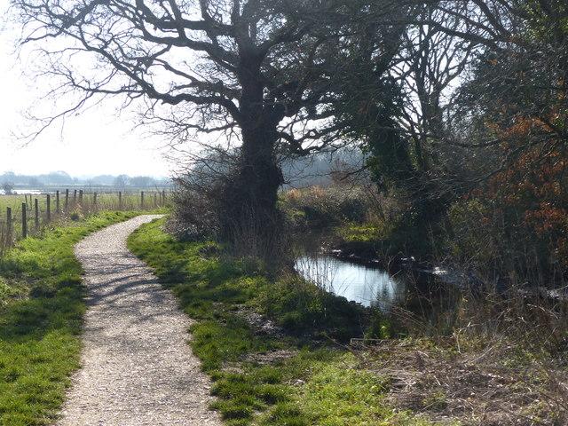 Path beside Titchfield Canal