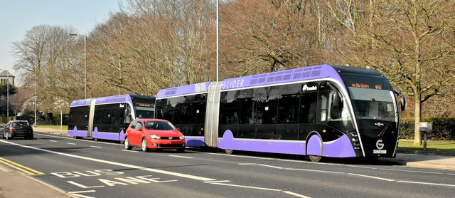 Two Glider buses, Stormont, Belfast (February 2019)
