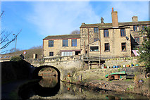 SE0125 : Bridge No. 10 on the Rochdale Canal, Mytholmroyd by Chris Heaton