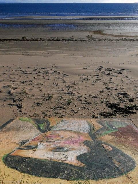 Mural on the sea wall, Ardeer Beach, Ayrshire