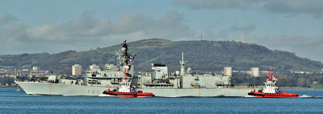 """HMS """"St Albans"""", Belfast Lough (March 2019)"""