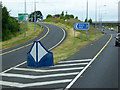 S7794 : Northbound M9, Exit at Junction 3 by David Dixon