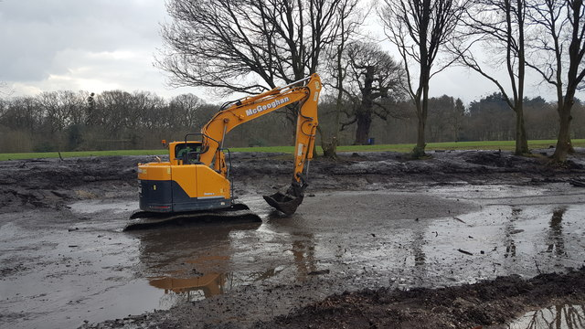 Clearing the Pond, Trent Park