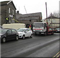 ST0889 : Apollo Scaffolding lorry, River Street, Treforest by Jaggery