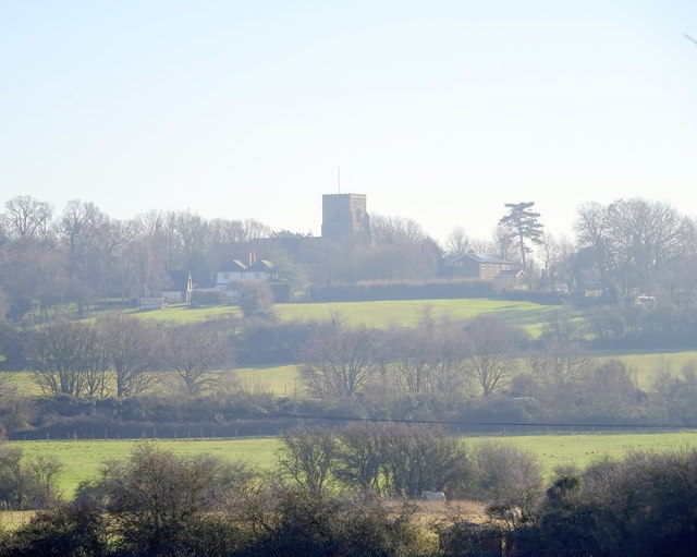 View of St Michaels & All Angels church; Ramsey