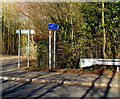 SO0504 : Taff Trail direction sign in Abercanaid Industrial Estate by Jaggery
