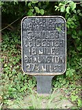 SP6989 : Old milemarker by Milestone Society