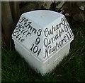 NO4112 : Old Milestone by the B940, Kinninmonth by Milestone Society