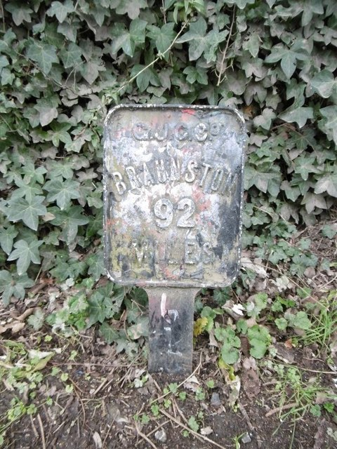 Old milemarker by Milestone Society