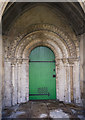 TF0639 : South door, St Denys church, Aswarby by Julian P Guffogg