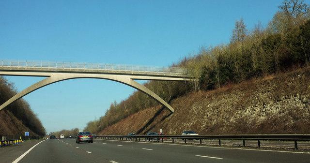 Bridge over the M25 at Polhill
