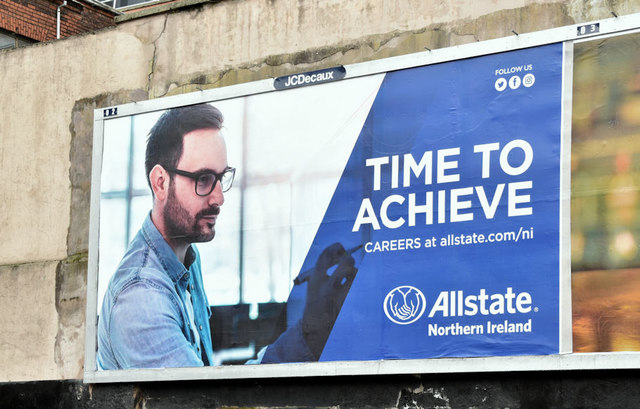 "Allstate ""Careers"" poster, Belfast (March 2019)"
