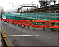 ST0888 : Temporary barriers on Park Street, Treforest by Jaggery
