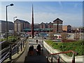 SO8218 : Steps leading down to Gloucester Docks by Philip Halling