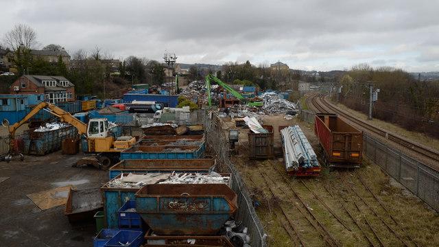 Crossley Evans's scrapyard