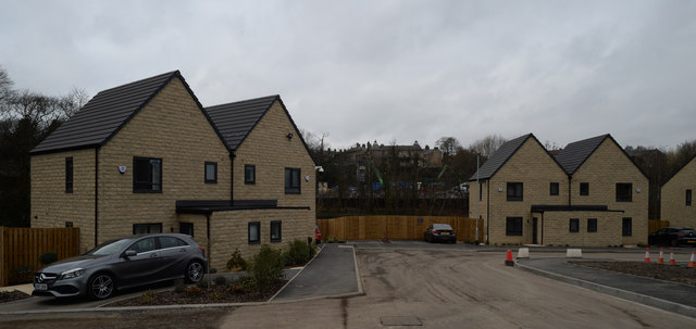 New housing by Bradford Beck