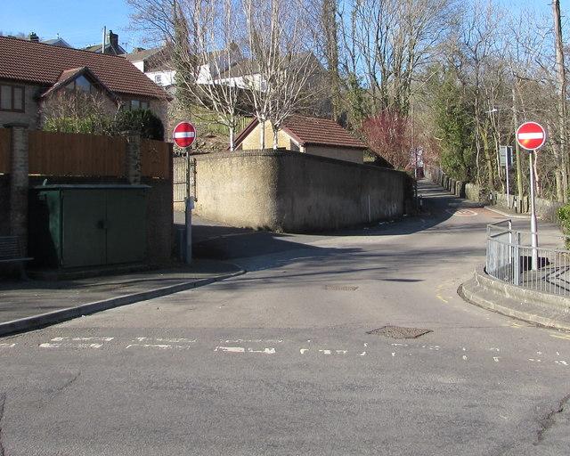 No Entry signs, Ash Road, Troedyrhiw by Jaggery