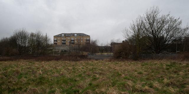 Open land near Bradford Beck