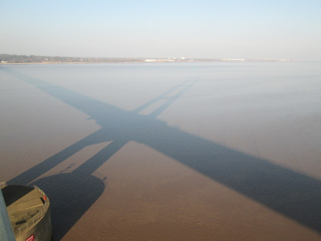 Humber  Bridge  shadow  on  the  River  Humber