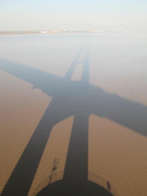 Humber  Bridge  shadow  on  the  River  Humber  (2)