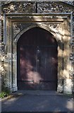 TL4845 : The church of St Peter: Porch door by Bob Harvey