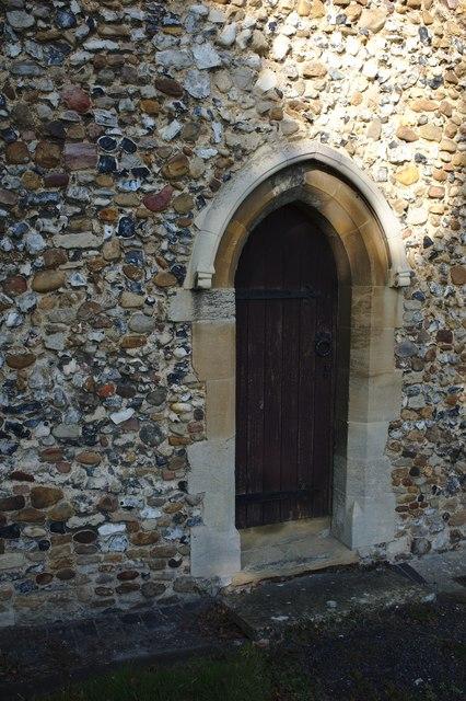 The Church of St Peter: Priest's door