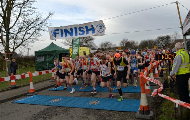 Start of the Liversedge Half Marathon 2019
