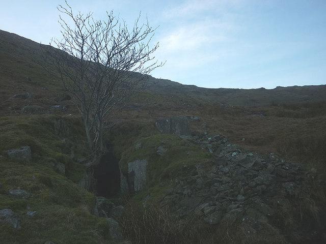 Disused mine level, Caiston Glen