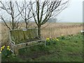 SD4816 : Jimmy's bench, Mawdesley Moss by Christine Johnstone