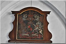 TM5286 : Kessingland, St. Edmund's Church: Royal Arms of George II (painted 1741) by Michael Garlick