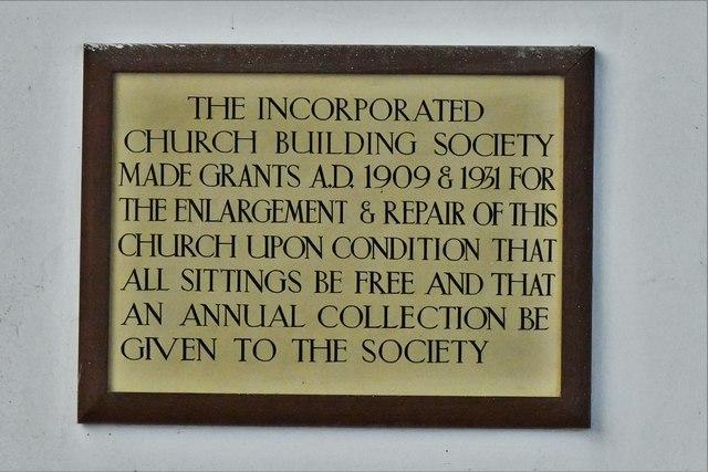 Kessingland, St. Edmund's Church: Wall plaque 2