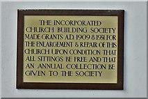 TM5286 : Kessingland, St. Edmund's Church: Wall plaque 2 by Michael Garlick