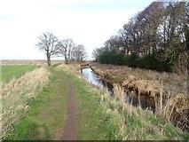 NT6578 : Biel Water, West Barns by Richard Webb