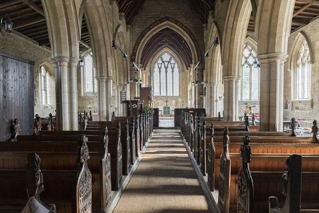 Interior, Ss Peter & Paul church, Osbournby