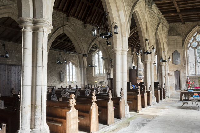 Interior view from the south aisle, Ss Peter & Paul church, Osbournby