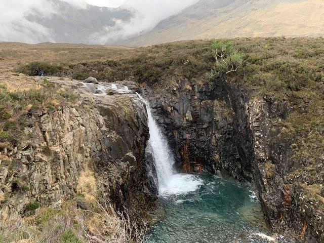 Waterfall on the Allt Coir' a' Mhadaidh