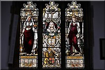 TL8866 : Great Barton: Holy Innocents Church: Queen Victoria Jubilee Window 1 by Michael Garlick