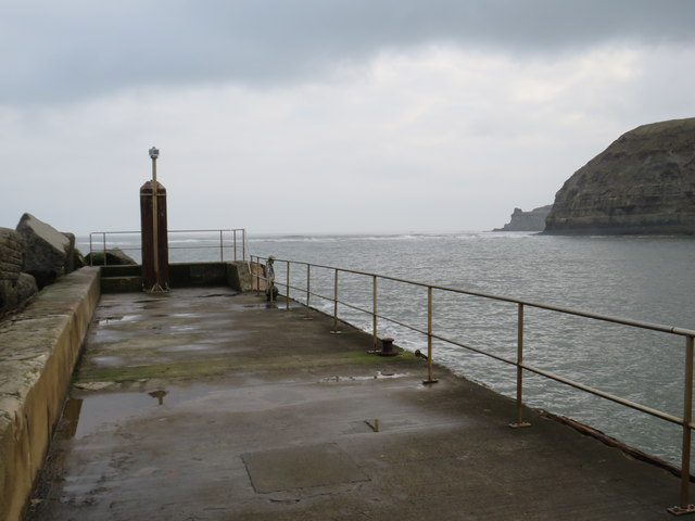 Breakwater at Staithes Harbour