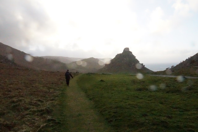 The Valley of Rocks in Storm Freya