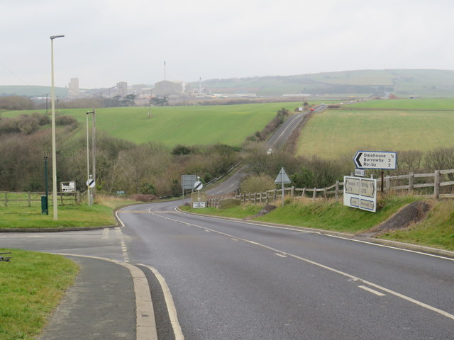 Road junction at Staithes