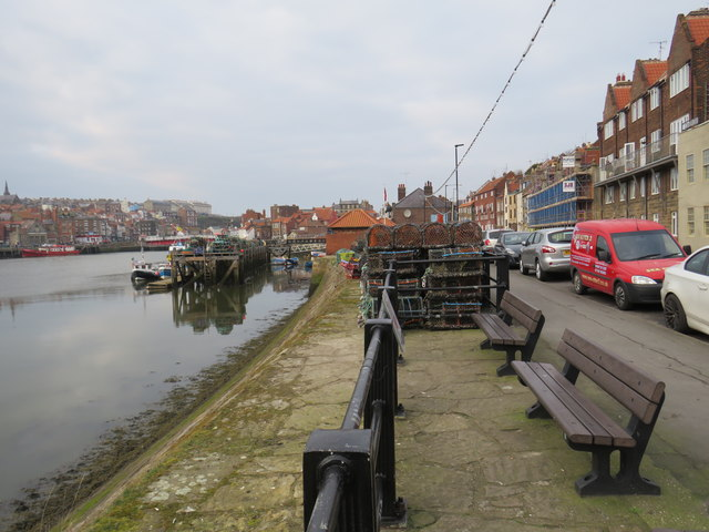 Benches on the harbourside, Whitby
